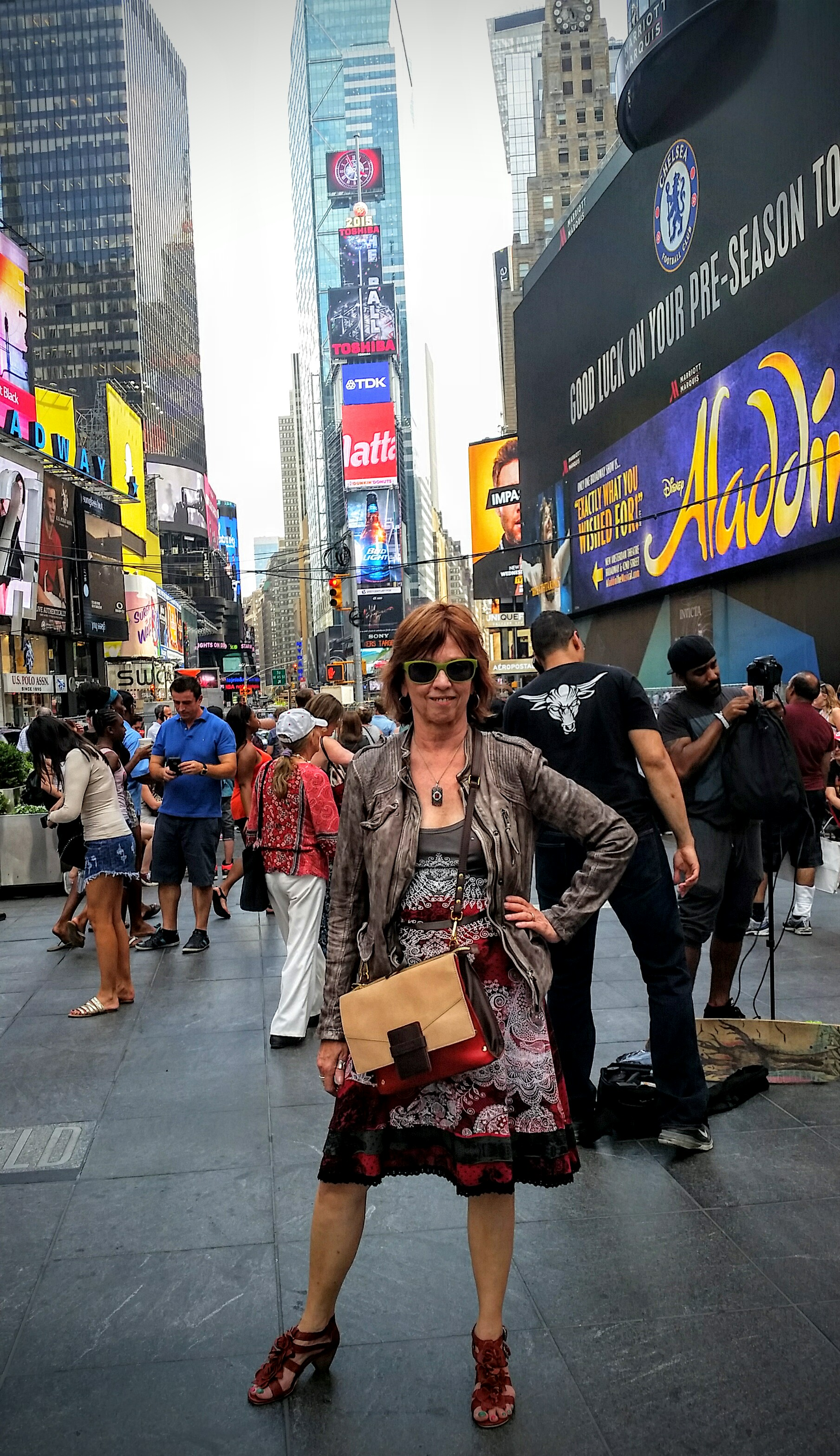 Nora/JD in Times Square.