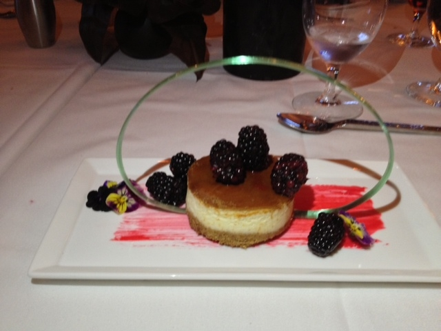 The cheesecake that concluded Nora's Tuesday dinner.
